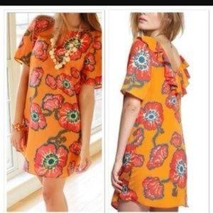 Floral Orange Shift Dress